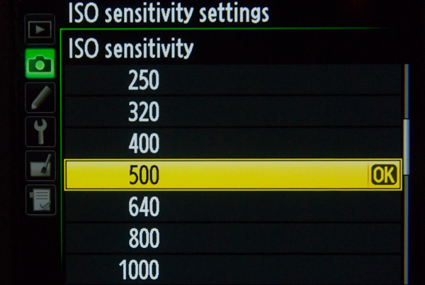 ISO Camera Settings