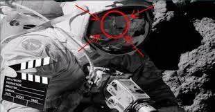 Moon landing conspiracy theories photos